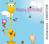 vector illustration  birthday... | Shutterstock .eps vector #136037258
