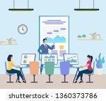 business people attending... | Shutterstock .eps vector #1360373786