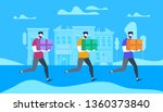 young bearded men characters... | Shutterstock .eps vector #1360373840