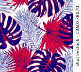 seamless pattern of tropical... | Shutterstock .eps vector #1360378070