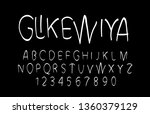 trendy font. minimalistic style ... | Shutterstock .eps vector #1360379129