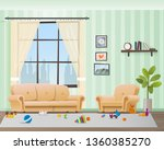children scattered toys in... | Shutterstock .eps vector #1360385270