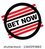 bet now stamp on white | Shutterstock .eps vector #1360393883