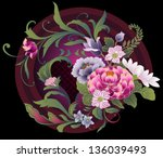 Floral Embroidery Pattern In...