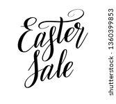 easter sale. design element.... | Shutterstock .eps vector #1360399853