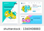 vector set of template with... | Shutterstock .eps vector #1360408883