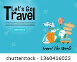 it s time to travel.trip to... | Shutterstock .eps vector #1360416023
