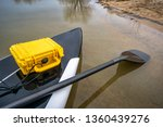 stand up paddleboard with a... | Shutterstock . vector #1360439276