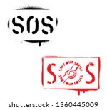 s.o.s.  save our souls ... | Shutterstock .eps vector #1360445009