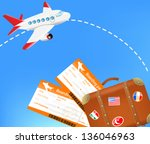 the concept of traveling  ... | Shutterstock .eps vector #136046963