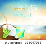 marine landscape with the... | Shutterstock .eps vector #136047083
