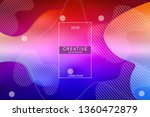 colorful background. liquid... | Shutterstock .eps vector #1360472879