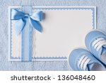 greeting children form with... | Shutterstock . vector #136048460