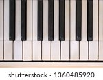 Old Piano Keyboard Fragment....