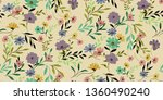 seamless floral pattern in... | Shutterstock .eps vector #1360490240
