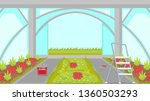 greenhouse building process... | Shutterstock .eps vector #1360503293
