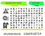 recreation icon set. 120 filled ...   Shutterstock .eps vector #1360518719