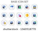 base icon set. 15 flat base... | Shutterstock .eps vector #1360518770