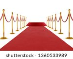 golden barrier with red rope... | Shutterstock . vector #1360533989