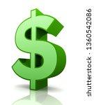 dollar sign concept 3d... | Shutterstock . vector #1360542086