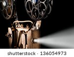 movie projector with the film | Shutterstock . vector #136054973