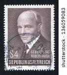 austria   circa 1980  stamp... | Shutterstock . vector #136059083