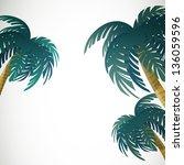 vector illustration of palm...   Shutterstock .eps vector #136059596