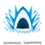 a shark and water splash   Shutterstock .eps vector #1360595993