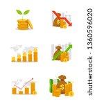 set of business financial chart   Shutterstock .eps vector #1360596020