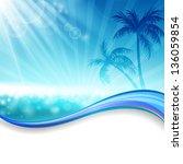 vector illustration of a summer ... | Shutterstock .eps vector #136059854
