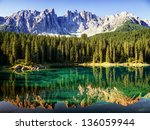 karerlake at the dolomites in... | Shutterstock . vector #136059944