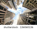 modern buildings of new york  ... | Shutterstock . vector #136060136