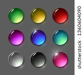set of vector round gems.... | Shutterstock .eps vector #1360604090