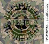 bathing trunks on camouflaged... | Shutterstock .eps vector #1360606139