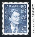Small photo of AUSTRIA - CIRCA 1985: stamp printed by Austria, shows Alban Berg, circa 1985