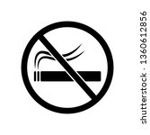 no smoking allowed icon... | Shutterstock .eps vector #1360612856