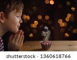 cute little child blowing a...   Shutterstock . vector #1360618766
