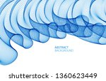 wave of flowing particles... | Shutterstock .eps vector #1360623449