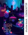 blurred street lights  urban...   Shutterstock .eps vector #1360630739