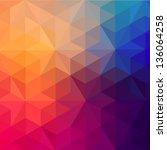 retro pattern of geometric... | Shutterstock .eps vector #136064258