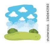 field landscape scene icons   Shutterstock .eps vector #1360642583
