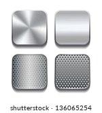 apps metal icon set. vector...