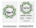 set of engagement celebration... | Shutterstock .eps vector #1360662503