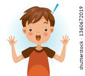 boy surprised. exclamation mark.... | Shutterstock .eps vector #1360672019