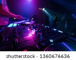 music mixer dj controller board ...   Shutterstock . vector #1360676636