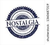 blue nostalgia distressed... | Shutterstock .eps vector #1360687319