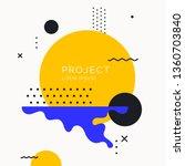 trendy abstract art geometric... | Shutterstock .eps vector #1360703840