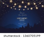 magic night wedding lights... | Shutterstock .eps vector #1360705199