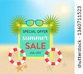 summer sale shinny beach... | Shutterstock .eps vector #1360711523