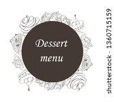 design of pastries  desserts ... | Shutterstock .eps vector #1360715159